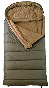 "TETON Sports Celsius Regular -18 Degree C / 0 Degree F Flannel Lined Sleeping Bag (80""x 33"", Green, Left Zip)"