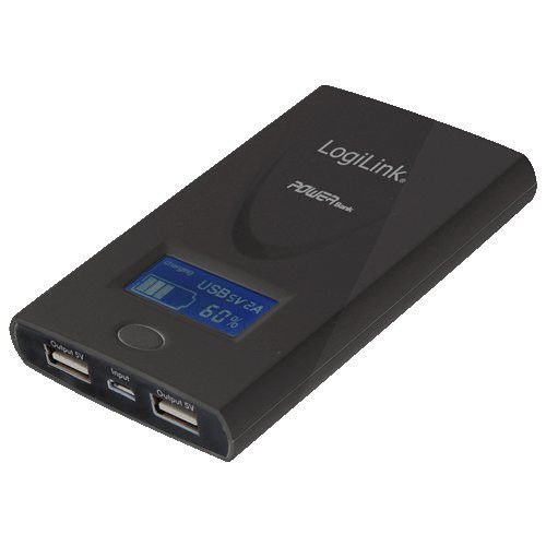 Logilink Slim 6000mah 2x USB Powerbank + Display Akku Ladegerät Smartphone Universal Ersatzakku Notfall extern Handy mobil tragbar weiß für iPhone 4 4s 5 5s 5c 6 Plus iPad 1 2 3 4 Mini Air Samsung Galaxy S3 S4 S5 TAB 1 2 3 4 5 NOTE 1 2 3 4 HTC ONE M8 LG G1 G2 G3 mini