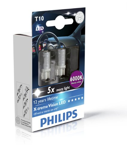 Philips Blue Vision 194 T10 W5W LED Replacement Bulb