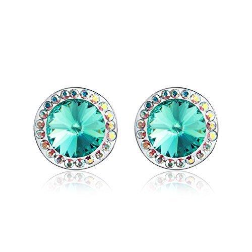 Swarovski Elements Orecchini in cristallo diamante della orecchini(verde)