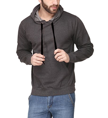 Scott International Full Sleeve Hooded Unisex Charcoal Grey Sweatshirt