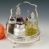 Cruet Set British with special finish that never needs Silver polishing includes salt pepper mustard oil vinegar