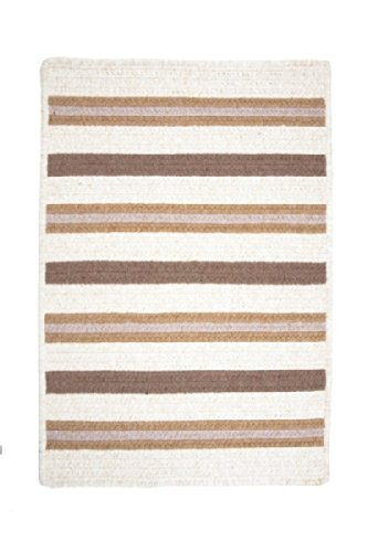 Allure Polypropylene Braided Square Rug, 12-Feet, Haystack