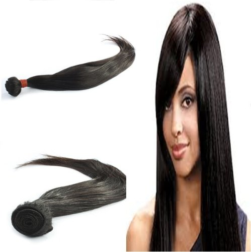 "Yesurprise Top Quality 22"" Straight 100% Virgin Remy Human Hair Weave Weft Natural Black 100G"