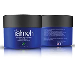 Yalmeh Aloe Super Youth Eye Cream (50g 1.7 OZ) Eye Cream For Wrinkles| Smooths Out Fine Lines and Wrinkles | Dark Circle Treatments | Eye Cream For wrinkles|Best Eye Cream | Natural Eye Cream| Night Eye Cream | Eye Firming Cream| Say Goodbye to Wrinkles, Baggy Eyes and Dark Rings| Vitamins E and C| Men &Women Eye Cream| Fresh Looking Youthful Skin| Age Eye Cream | Easily Absorbs to Leave Skin Smooth | 100% Money Back, Guarantee!|Promotion Price To Be Increased Soon!Sells Out Fast