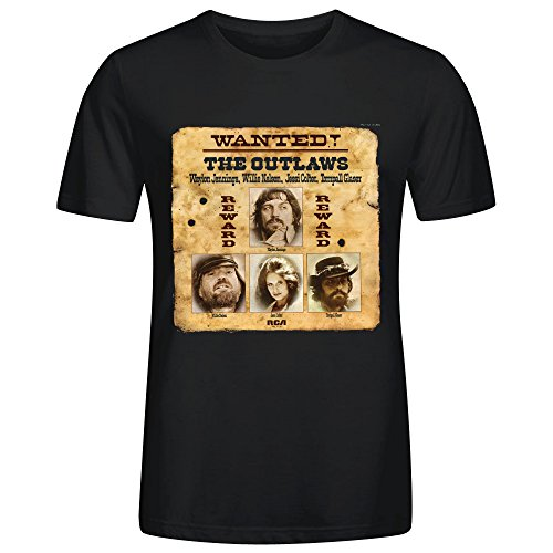 willie-nelson-wanted-the-outlaws-tee-shirts-for-men-black