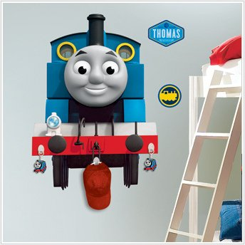 Thomas Tank Engine Giant Wall Stickers Mural W/ Hooks Room Decor Train Decals front-1043511
