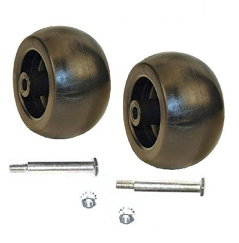 Lawnmowers Parts Heavy Duty Deck Wheels, 2 Bolts with Nuts Fits Mowers Lawn & Garden Equipment