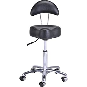 SALON STOOL HYDRAULIC ROLLER WHEEL DOCTOR DENTIST NAIL SALON ALL PURPOSE STYLING SPA TATTOO STOOL - MEDUSA