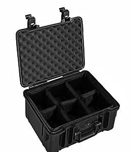B&W International Outdoor.cases Valise étanche anti choc Type 20 inclus intérieur capitonné amovible pour Appareil photo Noir