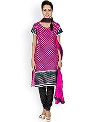 EQ Pink Colour Super Fine Cotton Cambric Salwar Suit. - B0158RLD1E