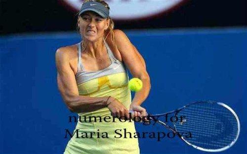 Numerology for Maria Sharapova