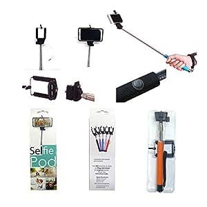 selfie stick stainless steel adjustable phone clamp for selfie d. Black Bedroom Furniture Sets. Home Design Ideas
