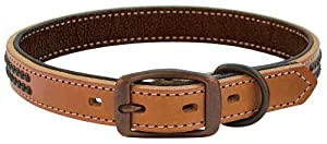 "Weaver Outlaw 1"" Dog Collar - Size:1""x17"" Color:Golden Brown"