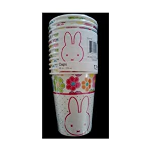 Miffy / Nijntje Bunny Rabbit Birthday Party 9 oz. Cups ~ 12 count