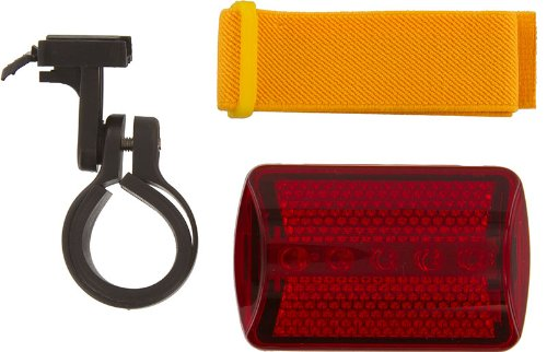 Se - Safety Light - Flasher With Bicycle Attachment, Red, 6 Way
