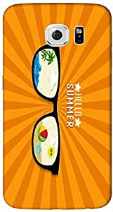 Timpax protective Armor Hard Bumper Back Case Cover. Multicolor printed on 3 Dimensional case with latest & finest graphic design art. Compatible with Samsung Galaxy S-6-EDGE Design No : TDZ-28392