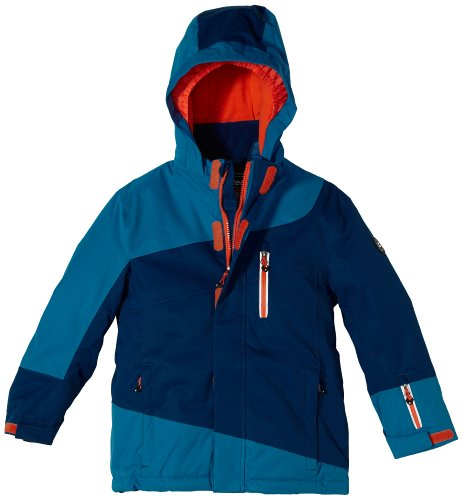 Killtec Kinder Funktionsjacke mit Kapuze Bendik Junior Colourblock, blau, 176, 23278-000