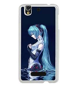 Blue Girl 2D Hard Polycarbonate Designer Back Case Cover for YU Yureka :: YU Yureka AO5510