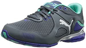 PUMA Women's Cell Riaze Cross-Training Shoe,Turbulence/Spectrum Blue/Electric Green,8 B US