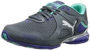 PUMA Women's Cell Riaze Cross-Training Shoe,Turbulence/Spectrum Blue/Electric Green,8 B US
