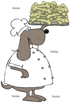 "Wallmonkeys Peel and Stick Wall Graphic - Dog Biscuit Chef - 24""H x 16""W"