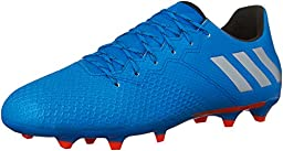 adidas Performance Men\'s Messi 16.3 FG Soccer Shoe, Silver Metallic/Black/Shock Blue Silver, 13 M US