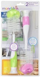 Munchkin Bottle & Nipple Brush - Girl - 2 pk