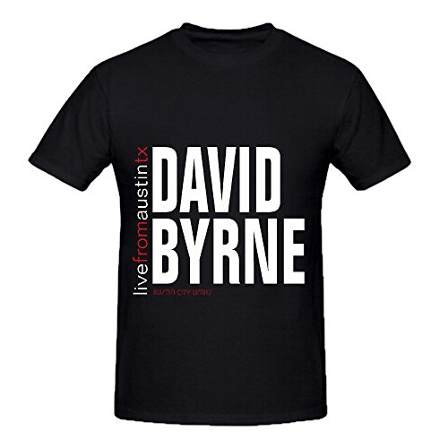 David Byrne Live From Austin Texas Electronica Mens Crew Neck Cute Tee Black (Halloween Stores Syracuse Ny)