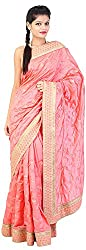 Mili Women's Silk Saree - (Pink, MS-14)