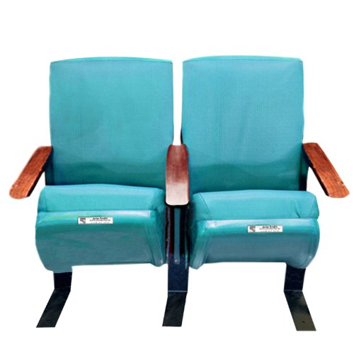 Authentic Madison Square Garden Teal Game Used Seats Steiner Coa front-653793