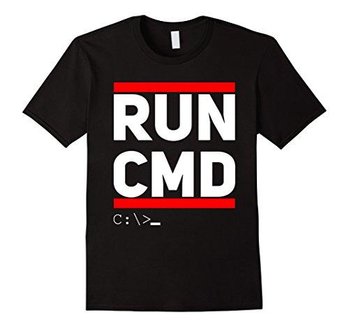 Men's Run CMD T-Shirt Computer Geek Humor XL Black (Computer Developer compare prices)
