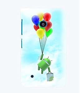 Printvisa Cartoon Hanging On Multicoloured Baloons Back Case Cover for Nokia Lumia 530::Microsoft Lumia 530