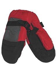 Winter Warm-Up - Little Boys Ski Mittens, Black, Red 27892-onesize