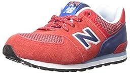 New Balance KL574 Summit Running Shoe (Infant/Toddler), Red/Blue, 2 M US Infant