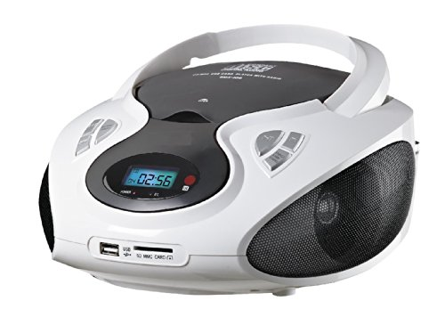 Tragbares Stereo CD-Radio mit CD MP3 Player AUX IN USB SD-Card Wiedergabe Kinder Musikanlage Stereoanlage Boombox tragbar