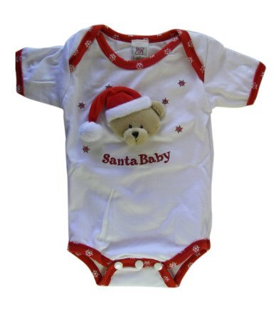 Santa Baby Baby Diaper Shirt ( Size 3-6 Months)
