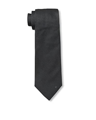 Givenchy Men's Squares Tie, Black/Light Grey