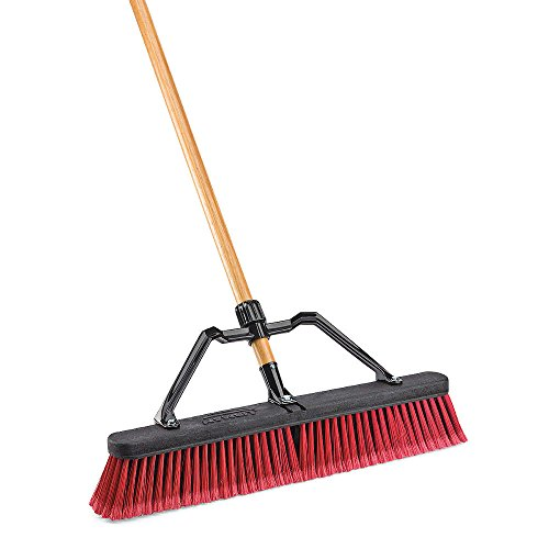 LIBMAN 827 Push Broom with Hard Polymer Support Brace, 24