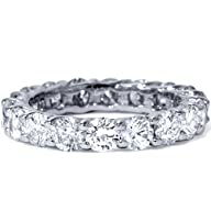 3.00CT Trellis Diamond Eternity Ring 14K White Gold
