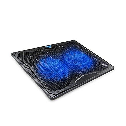 """Basi Di Raffreddamento Per pc Portatili, TeckNet® Base Sistema Ventola di Raffreddamento (fino a 17"""") per Laptop e Notebook con 2x130mm Ventole a Velocità Regolabile"""