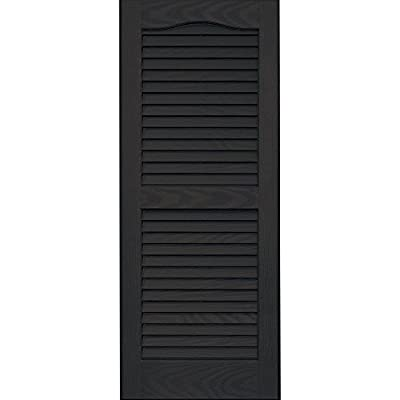 Vantage 0114035046 14X35 Louver Arch Shutter/Pair 046, Chocolate Brown by The TAPCO Group - DROPSHIP