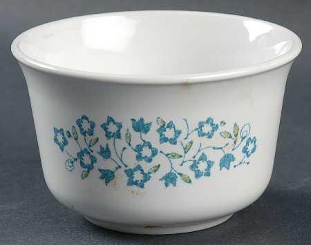 Discontinued Corelle Blue Heather Open Sugar Bowl