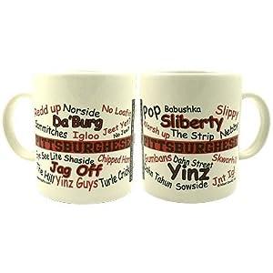 Pittsburghese Red & Black Mug at SteelerMania