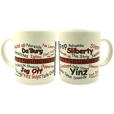 Pittsburghese Red & Black Mug at SteelerMania