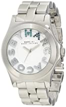 Marc by Marc Jacobs Rivera White Dial Stainless Steel Unisex Watch MBM3136