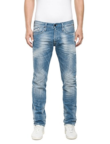 Replay Herren Straight Leg Jeanshose Waitom, Gr. W36/L32 (Herstellergröße: 36), Blau (Blue Denim 10) thumbnail