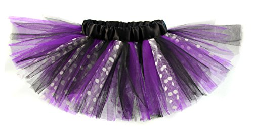 Baby Girls Purple & Black Polka Dot Designer Tutu