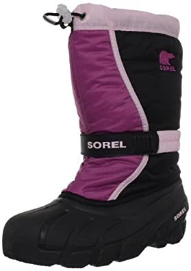 Sorel Flurry TP Winter Boot (Toddler/Little Kid/Big Kid),Prairie Rose/Black,5 M US Big Kid
