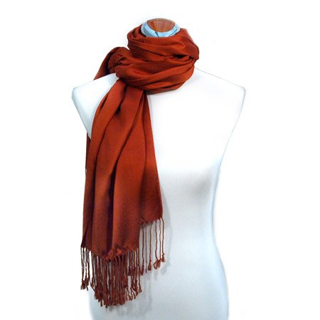 Juicy Sateen Pumpkin Pashmina Wrap